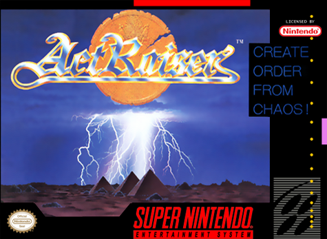 ActRaiser Nintendo Super NES cover artwork