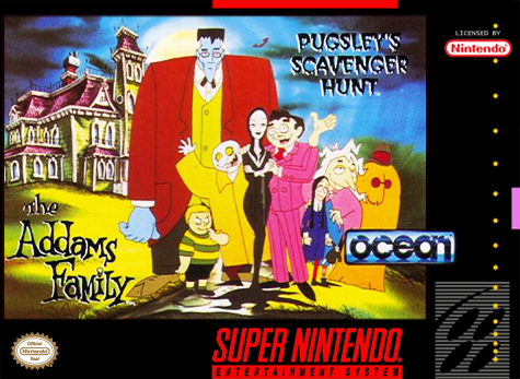 Addams Family, The - Pugsley's Scavenger Hunt Nintendo Super NES cover artwork