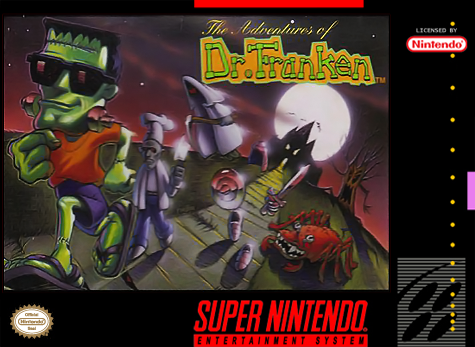 Adventures of Dr. Franken, The Nintendo Super NES cover artwork