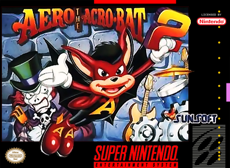 Aero the Acro-Bat 2 Nintendo Super NES cover artwork