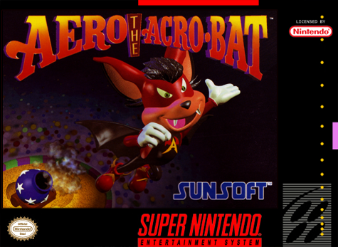 Aero the Acro-Bat Nintendo Super NES cover artwork