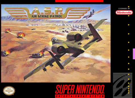 A.S.P. - Air Strike Patrol Nintendo Super NES cover artwork