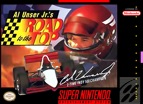 Al Unser Jr.'s Road to the Top Nintendo Super NES cover artwork