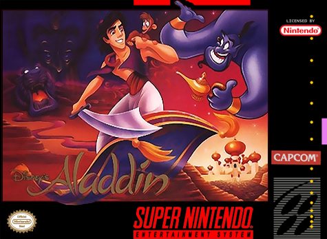 Aladdin Nintendo Super NES cover artwork