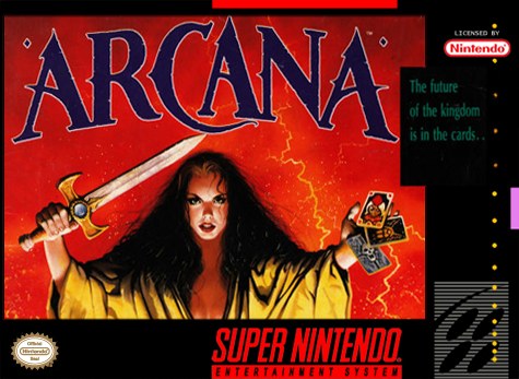 Arcana Nintendo Super NES cover artwork