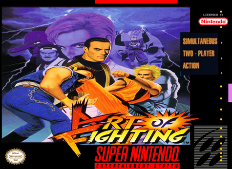 Art of Fighting Nintendo Super NES cover artwork