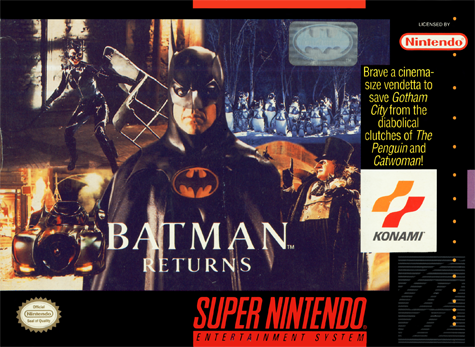 Batman Returns Nintendo Super NES cover artwork