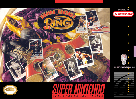 Boxing Legends of the Ring Nintendo Super NES cover artwork