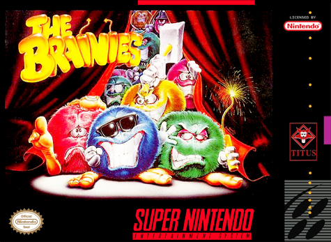 Brainies, The Nintendo Super NES cover artwork