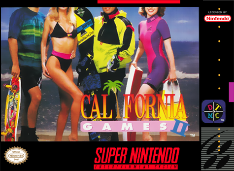 California Games II Nintendo Super NES cover artwork