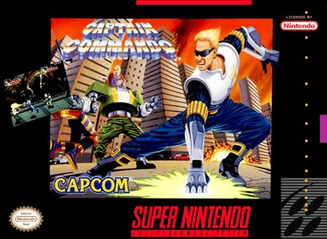 Captain Commando Nintendo Super NES cover artwork