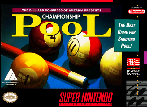 Championship Pool Nintendo Super NES cover artwork