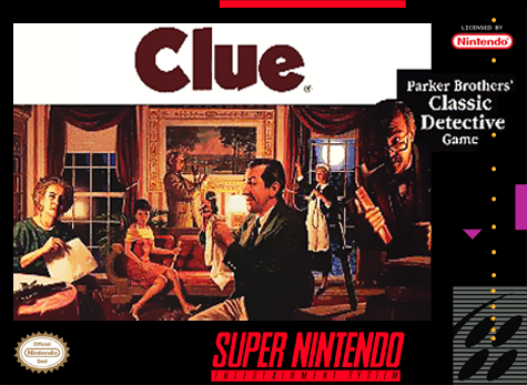 Clue Nintendo Super NES cover artwork
