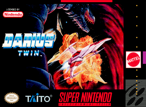 Darius Twin Nintendo Super NES cover artwork
