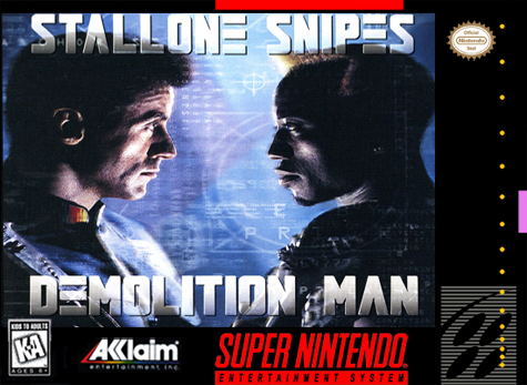 Demolition Man Nintendo Super NES cover artwork