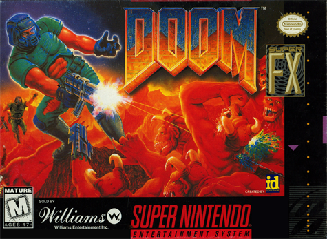 Doom Nintendo Super NES cover artwork