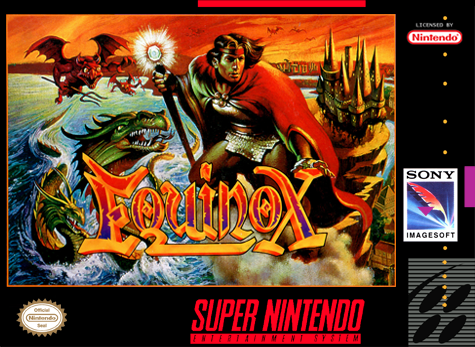 Equinox Nintendo Super NES cover artwork