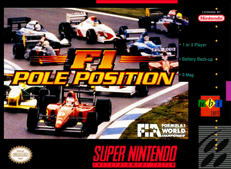 F1 Pole Position Nintendo Super NES cover artwork