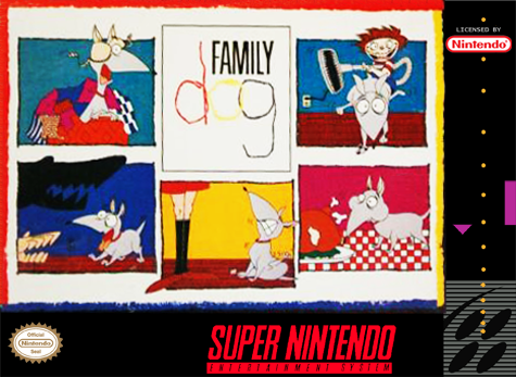 Family Dog Nintendo Super NES cover artwork