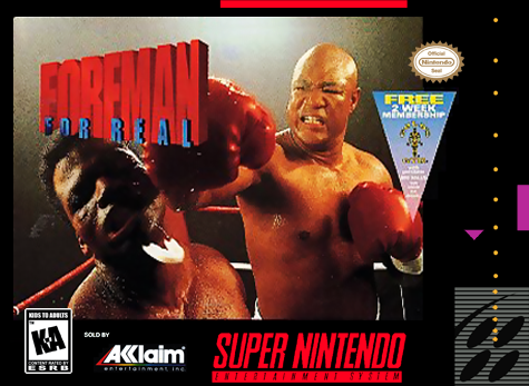 Foreman for Real Nintendo Super NES cover artwork