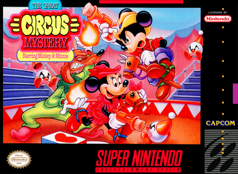 Great Circus Mystery Starring Mickey & Minnie, The Nintendo Super NES cover artwork