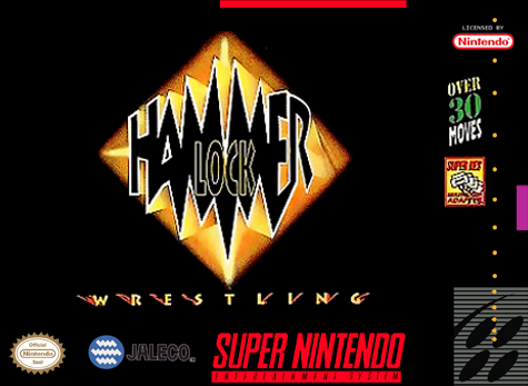 Hammer Lock Wrestling Nintendo Super NES cover artwork