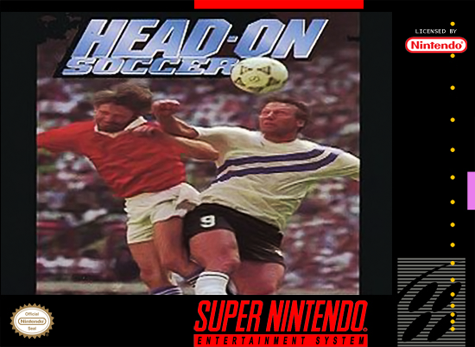 Head-On Soccer Nintendo Super NES cover artwork