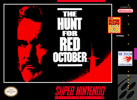 Hunt for Red October, The Nintendo Super NES cover artwork