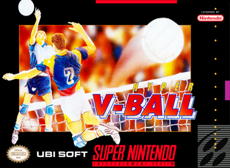 Hyper V-Ball Nintendo Super NES cover artwork