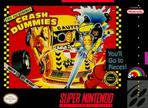Incredible Crash Dummies, The Nintendo Super NES cover artwork