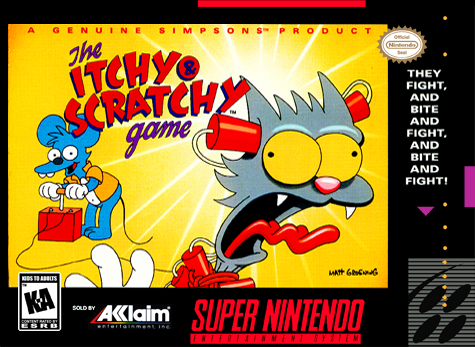 Itchy & Scratchy Game, The Nintendo Super NES cover artwork