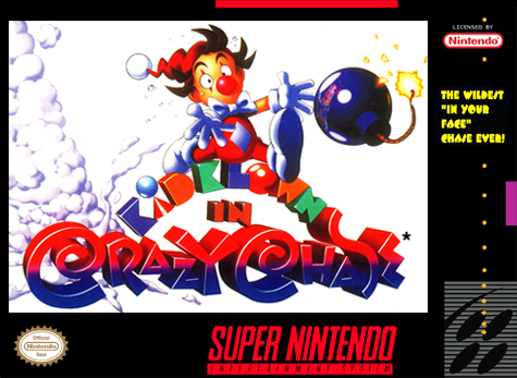 Kid Klown in Crazy Chase Nintendo Super NES cover artwork