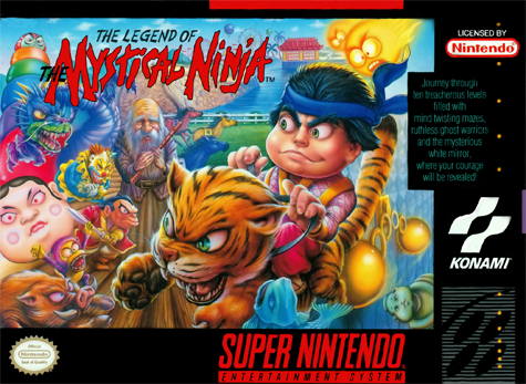 Legend of the Mystical Ninja, The Nintendo Super NES cover artwork