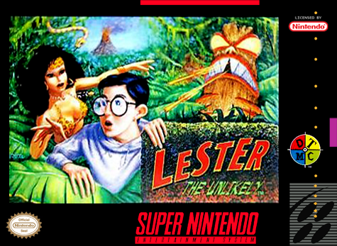 Lester the Unlikely Nintendo Super NES cover artwork
