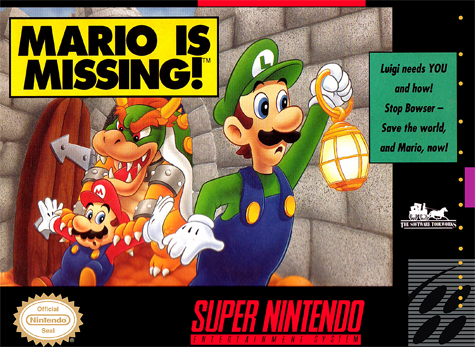 Mario Is Missing! Nintendo Super NES cover artwork