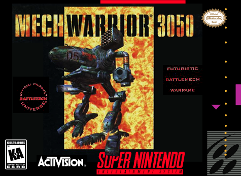 MechWarrior 3050 Nintendo Super NES cover artwork