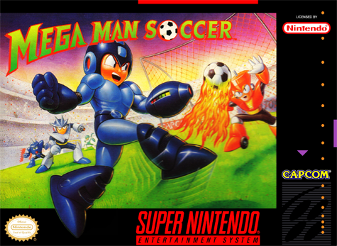 Mega Man Soccer Nintendo Super NES cover artwork