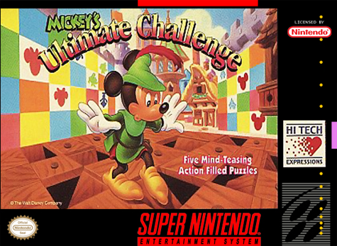 Mickey's Ultimate Challenge Nintendo Super NES cover artwork