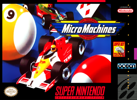 Micro Machines Nintendo Super NES cover artwork