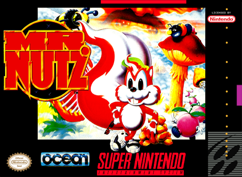 Mr. Nutz Nintendo Super NES cover artwork