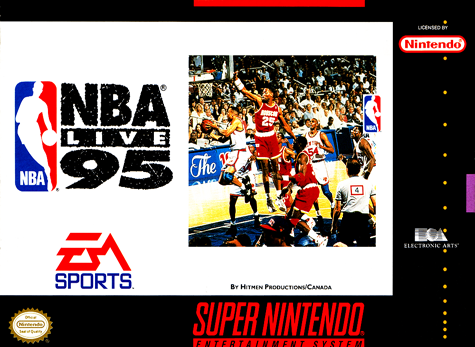 NBA Live' 95 Nintendo Super NES cover artwork