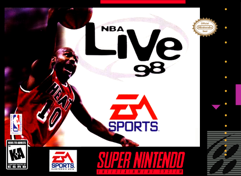 NBA Live' 98 Nintendo Super NES cover artwork