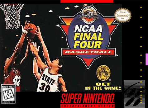 NCAA Final Four Basketball Nintendo Super NES cover artwork