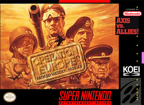 Operation Europe - Path to Victory 1939-45 Nintendo Super NES cover artwork
