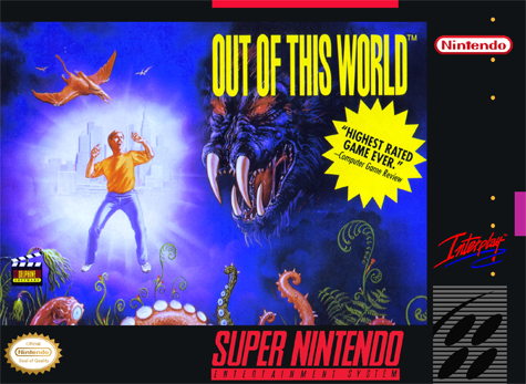 Out of This World Nintendo Super NES cover artwork