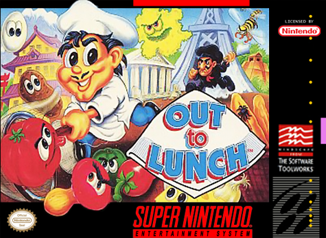 Out to Lunch Nintendo Super NES cover artwork