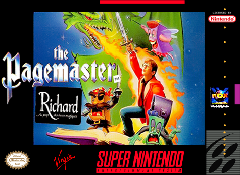 Pagemaster, The Nintendo Super NES cover artwork