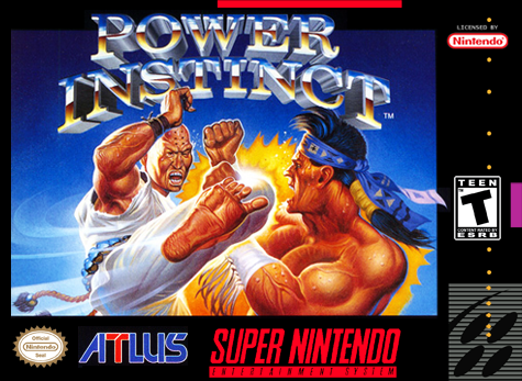 Power Instinct Nintendo Super NES cover artwork