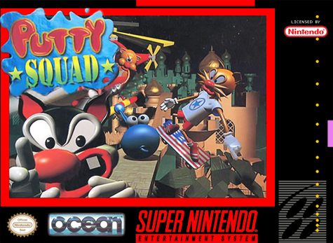 Putty Squad Nintendo Super NES cover artwork