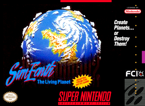 SimEarth - The Living Planet Nintendo Super NES cover artwork
